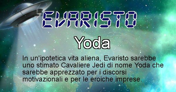 Evaristo - Nome alieno corrispondente a Evaristo