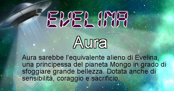 Evelina - Nome alieno corrispondente a Evelina