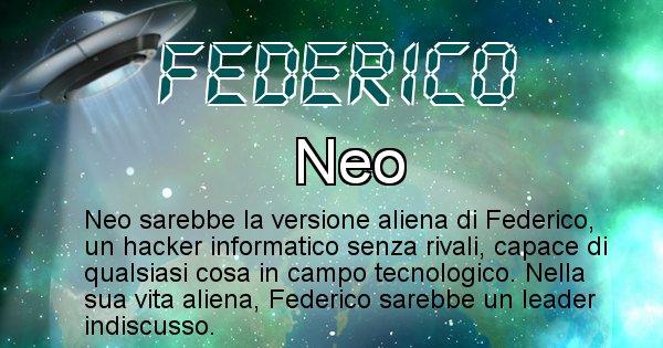 Federico - Nome alieno corrispondente a Federico