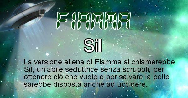Fiamma - Nome alieno corrispondente a Fiamma