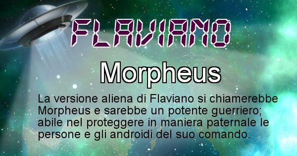 Flaviano - Nome alieno corrispondente a Flaviano
