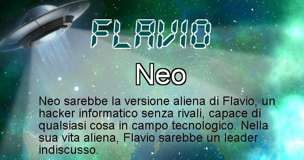 Flavio - Nome alieno corrispondente a Flavio