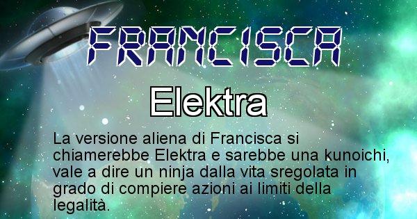 Francisca - Nome alieno corrispondente a Francisca