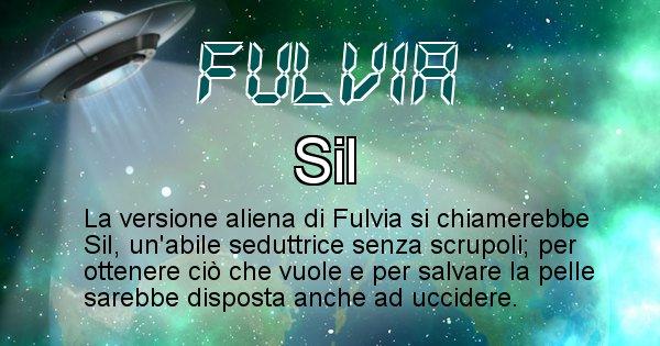 Fulvia - Nome alieno corrispondente a Fulvia