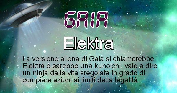 Gaia - Nome alieno corrispondente a Gaia