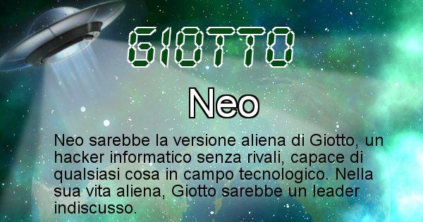 Giotto - Nome alieno corrispondente a Giotto