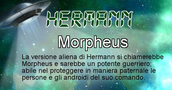 Hermann - Nome alieno corrispondente a Hermann