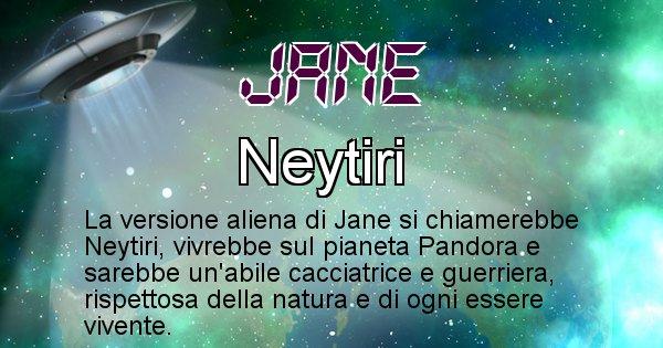 Jane - Nome alieno corrispondente a Jane