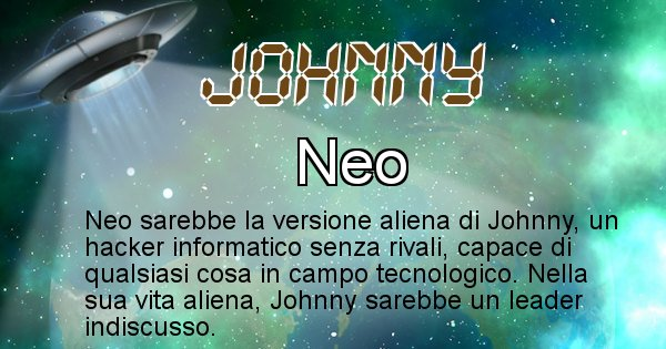 Johnny - Nome alieno corrispondente a Johnny