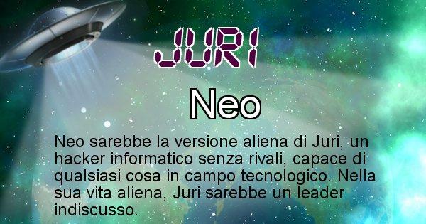 Juri - Nome alieno corrispondente a Juri