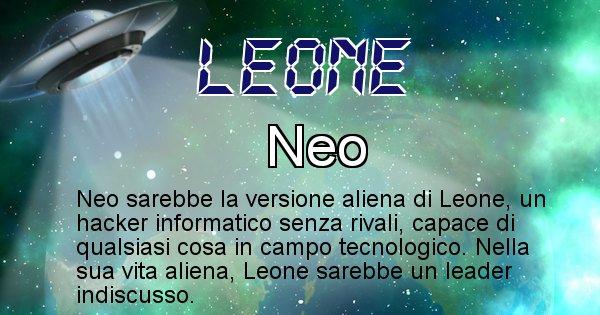 Leone - Nome alieno corrispondente a Leone