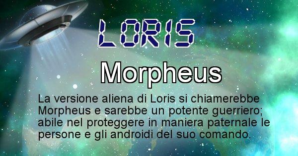 Loris - Nome alieno corrispondente a Loris