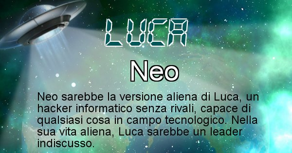 Luca - Nome alieno corrispondente a Luca