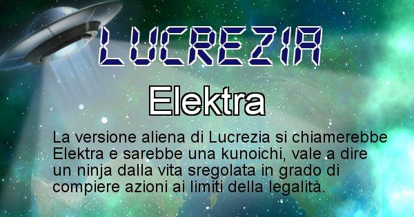 Lucrezia - Nome alieno corrispondente a Lucrezia