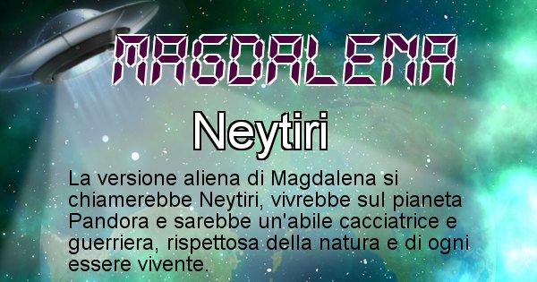 Magdalena - Nome alieno corrispondente a Magdalena