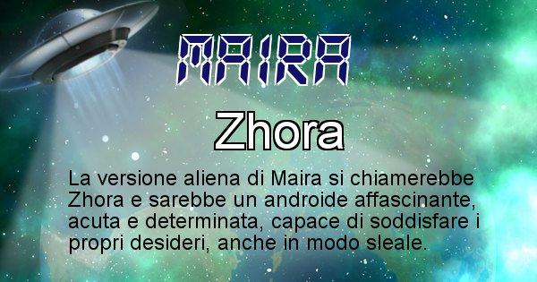 Maira - Nome alieno corrispondente a Maira