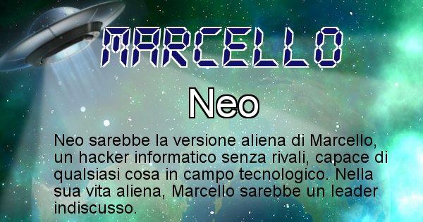 Marcello - Nome alieno corrispondente a Marcello
