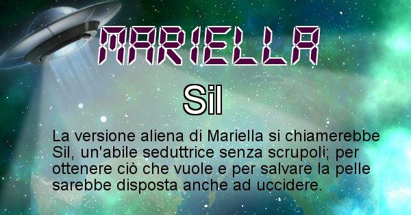 Mariella - Nome alieno corrispondente a Mariella