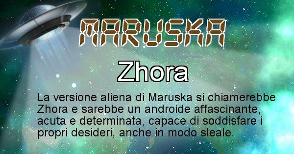 Maruska - Nome alieno corrispondente a Maruska
