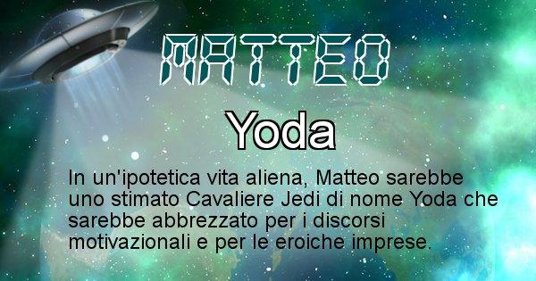 Matteo - Nome alieno corrispondente a Matteo