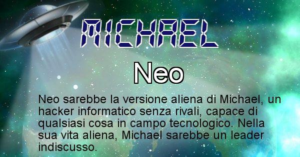 Michael - Nome alieno corrispondente a Michael