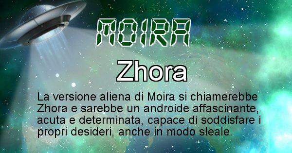 Moira - Nome alieno corrispondente a Moira