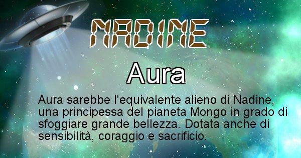 Nadine - Nome alieno corrispondente a Nadine