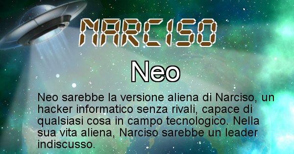 Narciso - Nome alieno corrispondente a Narciso