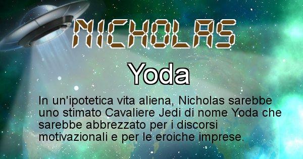 Nicholas - Nome alieno corrispondente a Nicholas