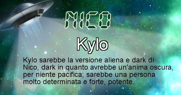 Nico - Nome alieno corrispondente a Nico