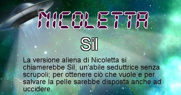Nicoletta - Nome alieno corrispondente a Nicoletta