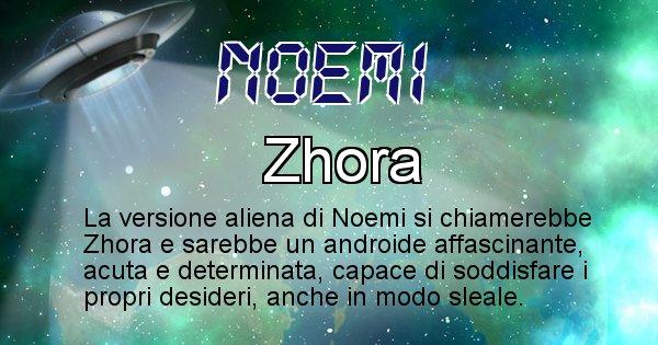 Noemi - Nome alieno corrispondente a Noemi