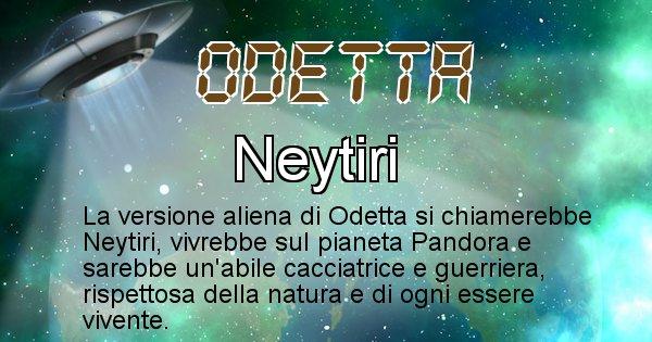 Odetta - Nome alieno corrispondente a Odetta