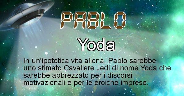Pablo - Nome alieno corrispondente a Pablo