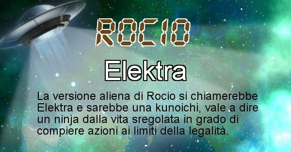 Rocio - Nome alieno corrispondente a Rocio