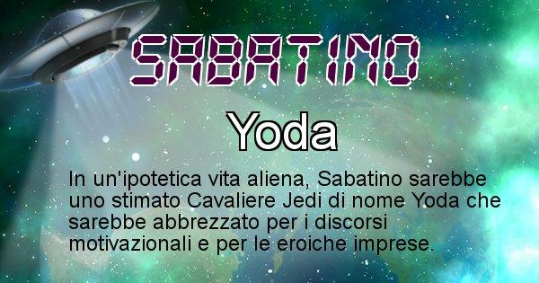 Sabatino - Nome alieno corrispondente a Sabatino