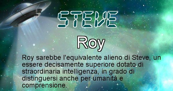 Steve - Nome alieno corrispondente a Steve