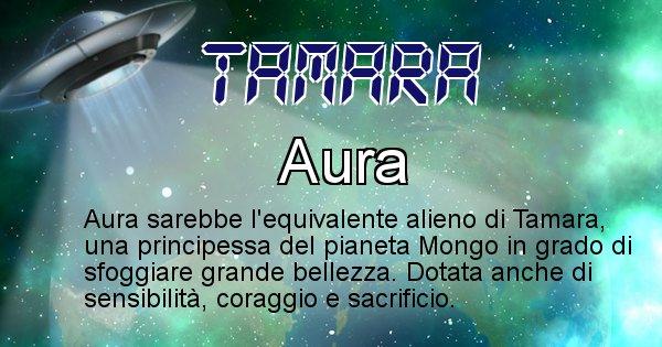 Tamara - Nome alieno corrispondente a Tamara
