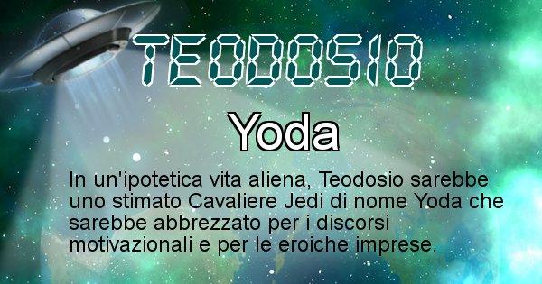 Teodosio - Nome alieno corrispondente a Teodosio