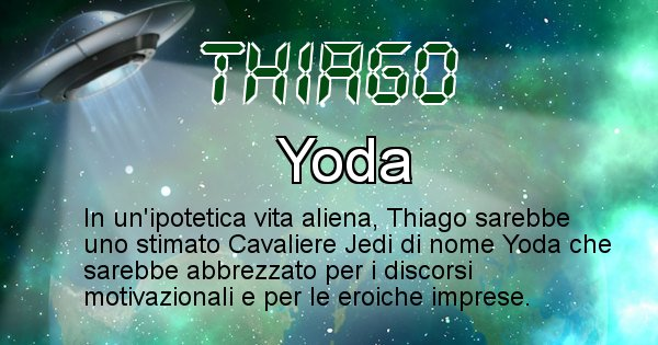 Thiago - Nome alieno corrispondente a Thiago