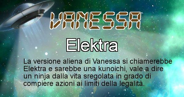 Vanessa - Nome alieno corrispondente a Vanessa