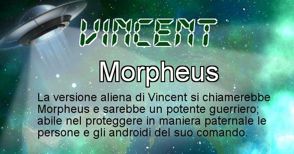 Vincent - Nome alieno corrispondente a Vincent