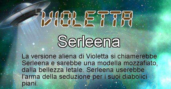 Violetta - Nome alieno corrispondente a Violetta