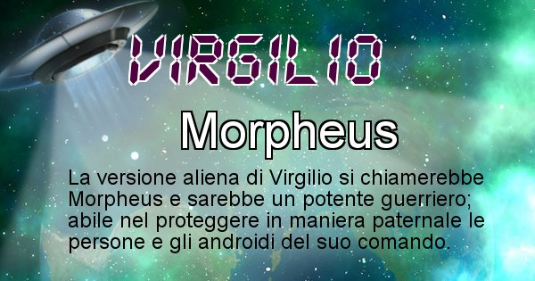 Virgilio - Nome alieno corrispondente a Virgilio