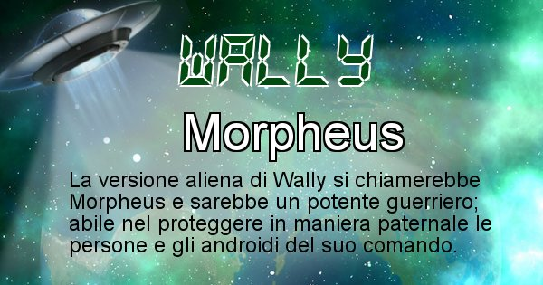 Wally - Nome alieno corrispondente a Wally