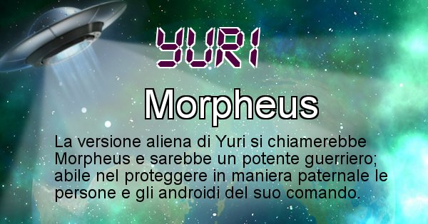 Yuri - Nome alieno corrispondente a Yuri