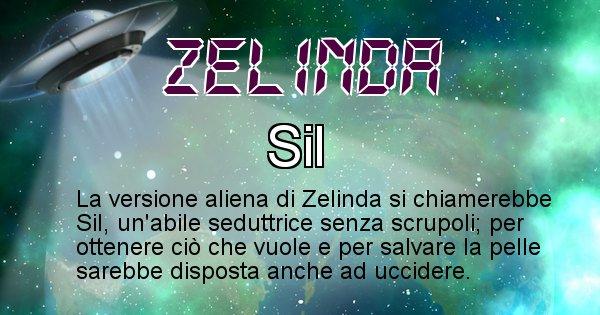 Zelinda - Nome alieno corrispondente a Zelinda