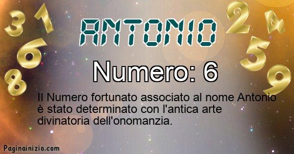 Antonio - Numero fortunato per Antonio