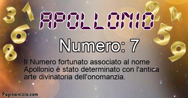 Apollonio - Numero fortunato per Apollonio