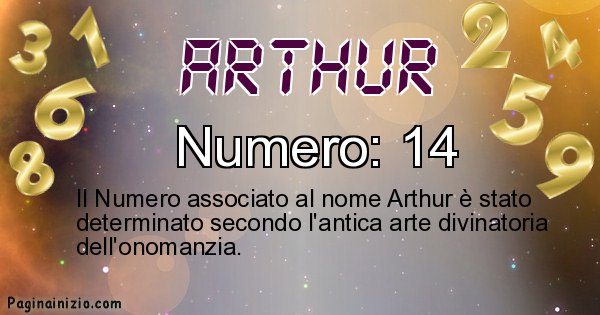 Arthur - Numero fortunato per Arthur